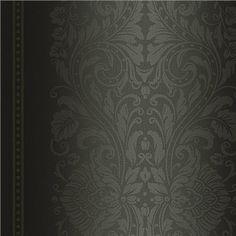 RW21500 Silver Ombre Damask Stripe - Raymond Waites Wallpaper