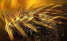 Golden Dragon HD Wallpaper