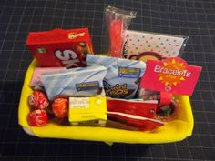 I've never really thought about giving gift baskets for kids birthdays but i like it!