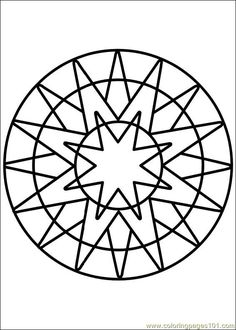 Coloring Pages Mandala 66 Painting Free Printable Page