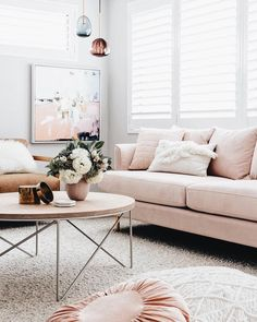 "33 Likes, 2 Comments - All Properties Group (@allpropertiesgroup) on Instagram: ""@designdevotee beautiful blush pink sofa by @oh.eight.oh.nine"""