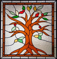 Tree of Life Stained Glass Panel - Custom on Etsy, $458.97