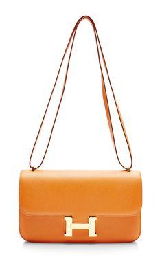 d670a4000f4c Heritage Auctions Special Collection Hermes 25Cm Orange H Epsom Constance  Elan Beautiful Handbags