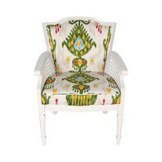 Multicolored Ikat Regency Chair - $1,200 Est. Retail - $450 on Chairish.com