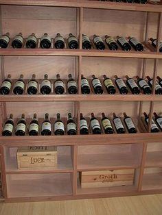 Custom Mahogany Wine Racks, Case Bins and Bulk Storage  wine cellar