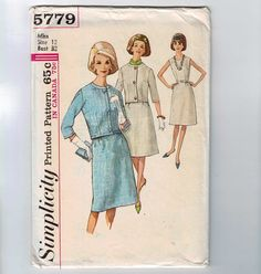 1960s Vintage Sewing Pattern Simplicity by historicallypatterns
