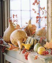 28 Fall Mantel Ideas | Midwest Living Pumpkin Vase, Pumpkin Flower, Thanksgiving Centerpieces, Thanksgiving Table, Fall Mantel Decorations, Table Decorations, Mantel Ideas, Fall Vegetables, Painted Gourds