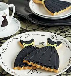"""Little Black Dress"" cookies"