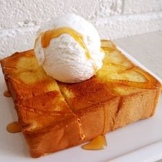 Hot & cold. Salty & sweet. Crunchy & soft. Have a taste of SHIBUYA TOAST -- Available at Once Upon a Milkshake. Sweet And Salty, Milkshake, Toast, Ice Cream, Cold, Desserts, No Churn Ice Cream, Tailgate Desserts, Smoothie