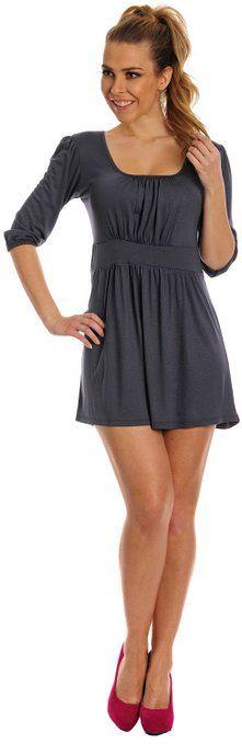 Glamour Empire Donna Vestito con gonna corta e scollatura quadrata Tunica 940: Amazon.it: Abbigliamento