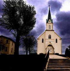 Immaculate Conception Roman Catholic Church near Augusta, Missouri.