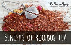 Rooibos tea hasn't yet gained the popularity that green tea and mate tea have, but it turns out that Rooibos may have just as many benefits, if not more, than these well-known teas. It is important to note that Rooibos is technically an herbal tea and not a true tea.  It is naturally caffeine-free, mildly sweet and delicious with a taste reminiscent of honey and roses ...
