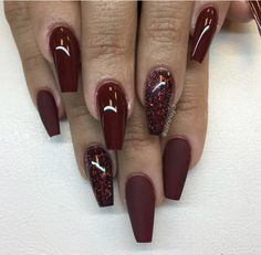 gel nails designs that you will love gel nail designs maroon nail Maroon Nail Designs, Nail Art Designs, Nail Designs 2017, Dark Nail Designs, Cute Gel Nails, Love Nails, Pretty Nails, My Nails, Deep Red Nails