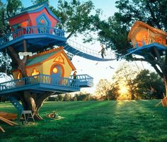 Kids treehouse....LOOKS LIKE SOMETHING IN DR.SUSSE