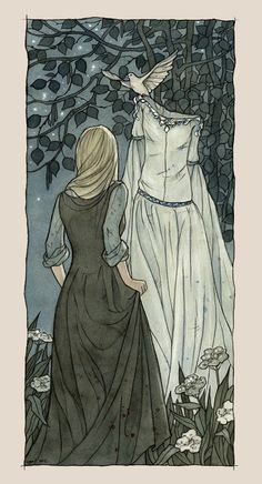 "illustration of Cinderella.   For Fairy Tale Project ""Fairy Tales for Today""  (soon here will be link)"