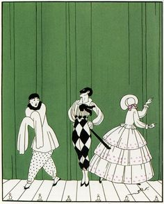 George Barbier : Designs on the Dances of Vaslav Nijinsky. An Illustration for…