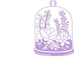Terrarium Rubber Stamp