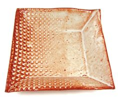 Square Ceramic Plate / Handmade Stoneware Clay by PatsPottery,