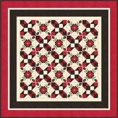 Applique lap and throw for Spring or Summer by Prairie Cottage Corner - Kathie Donahue & Erin MacGregor. 9 Block, Summer Patterns, Applique Quilts, Pattern Making, Quilt Patterns, Poppies, Free Pattern, Projects To Try, Fabric