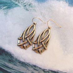 Celtic Earrings Gold Earrings celtic weave by SterlingSimplicity, $20.00