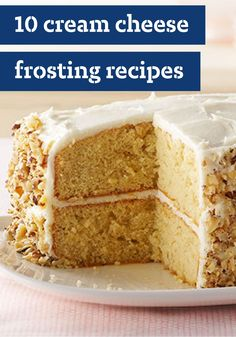 10 Cream Cheese Frosting Recipes – Nobody knows cream cheese frosting like PHILADELPHIA Cream Cheese. Smooth and creamy, it's divine as the topper for dozens of cakes and desserts. Cream cheese frosting-topped cupcakes are always a hit too!
