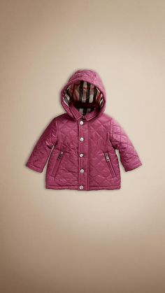 must get this for HJ's Korea trip this Christmas :: Check-Lined Quilted Jacket | Burberry