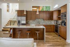 Gray and Brown Kitchen Design-Home and Garden Design Ideas