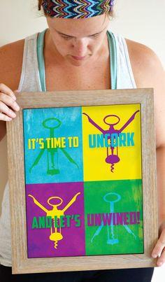 Wine Art Print Wine Poster Wine Quote Kitchen by SmartyPantsStudio, $24.00
