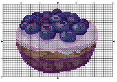 Gallery.ru / Фото #135 - Сладкое - BlueBelle Cupcake Cross Stitch, Cross Stitch Fruit, Cross Stitch Kitchen, Cross Stitch Love, Cross Stitch Designs, Cross Stitch Patterns, Loom Patterns, Beading Patterns, Cross Stitching
