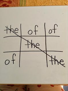 The Literacy Nest: Five For Friday Wrap-Up! - tic tac toe with sight words