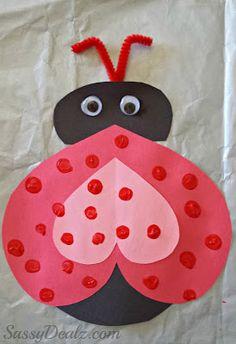 Heart Ladybug Valentines Day Craft For Kids   SassyDealz.com