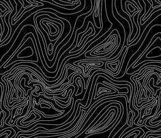 Ocean depth map black - medium scale fabric by ravynka on Spoonflower - custom fabric Graphic Design Posters, Graphic Art, 3d Max Tutorial, Ocean Depth, Map Fabric, Quilting Fabric, Black Background Wallpaper, Modern Wallpaper, Generative Art