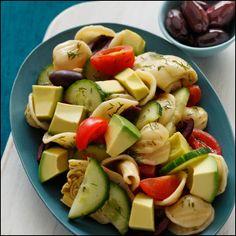 Mediterranean Pasta Salad with Artichokes and Avocado~~~~  California Avocado Mediterranean Diet Recipes