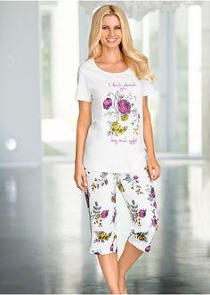 Piżama Koszulka z kwiatowym nadrukiem z • 52.99 zł • bonprix