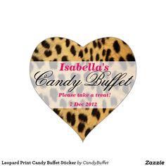 Leopard Print Candy Buffet Sticker