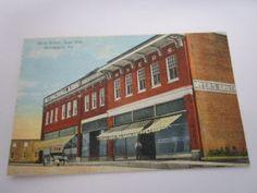 Vintage-W-E-Burgess-Scottsville-Va-Post-Card-Of-Main-Street-East-Side-Brookneal