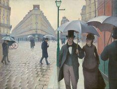 Caillebotte-Paryska ulica w deszczowy dzień, 1877