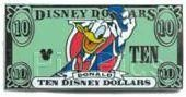 DONALD DUCK Disney Ten DOLLARS Collection 2006 Hidden Mickey Disney Pin, View all our pins at www.123GoingGoingGone.com