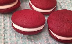 Red velvet whoopie pies I made for my coworkers  #baking #cooking #food #recipes #cake #desserts #win #cookies #recipe #cakes #cupcakes