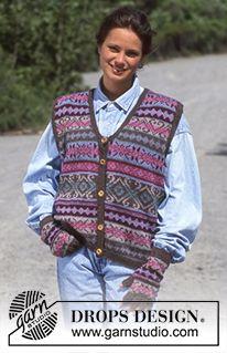 DROPS jacket in textured pattern in Alaska-Tweed. Free pattern by DROPS Design.