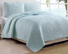 Amazon.com: Coastal Living Montauk Quilt Set Bedding King Blue: Home & Kitchen