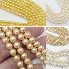 Gemsforjewels brings you the gorgeous Genuine Original South Sea Pearls mala Collection in Gold, Ivory, Peach, Yellow & White colors. Avail the 50% discount going on currently as they just got affordable!! Own them, flaunt them- Every girls dream!!