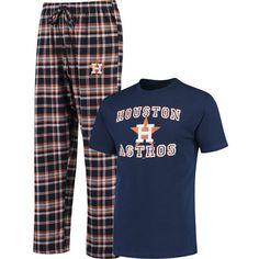 Houston Astros Concepts Sport Tiebreaker T-Shirt & Pants Sleep Set - Navy/Orange - $32.99