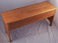 Custom Made Shaker style storage bench by 702 Woodworks on CustomMade.com