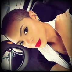 beats, short hair, cat eyes, eyebrow, flawless makeup, short cuts, red lips, beauti, hairstyl