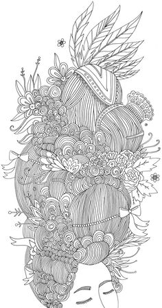 love this coloring page from the new book I Love My Hair: A Coloring Book of Braids, Coils, and Doodle Dos