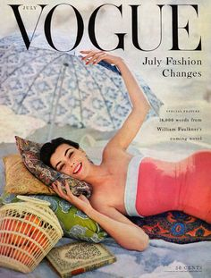 A July cover of Vogue. Photographed by Karen Radkai, Vogue, July 1954.