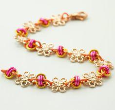 Pink Lemonade and Flowers Bracelet Kit Fast by UnkamenSupplies