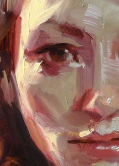 """Sunbreak"" (close-up of female), John Larriva art"