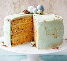 Duck egg sponge cake. Duck eggs make this sponge extra light and fluffy - cover in a rich buttercream for a showstopping Easter bake or stunning birthday cake